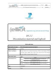 D5.2.2 Dissemination material and logbook - Elliot