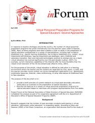 Virtual Personnel Preparation Programs for Special ... - Project Forum