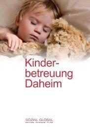 Kinder- betreuung Daheim - Sozial Global