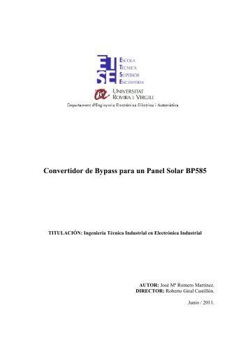 Convertidor de Bypass para un Panel Solar BP585