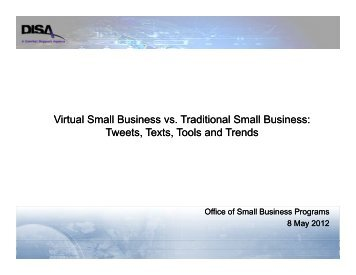 DISA Small Business Office - Defense Information Systems Agency
