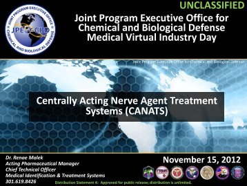 Joint Program Executive Office for Chemical and Biological Defense ...