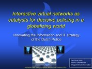 Interactive virtual networks as catalysts for decisive policing in a ...