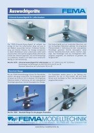 Auswuchtgeräte - FEMA Modelltechnik