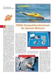 FEMA-Kompaktbordanlasser für Zenoah-Motoren