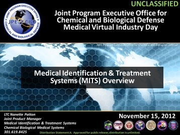 Joint Program Executive Office for Chemical and ... - U.S. Army