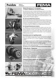 Preisliste - FEMA Modelltechnik