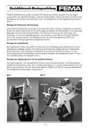 Einziehfahrwerk-Montageanleitung - FEMA Modelltechnik
