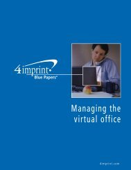 Managing the virtual office - 4imprint Promotional Products Blog
