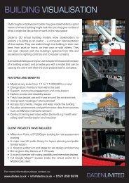 Building Visualisation flyer - Daden