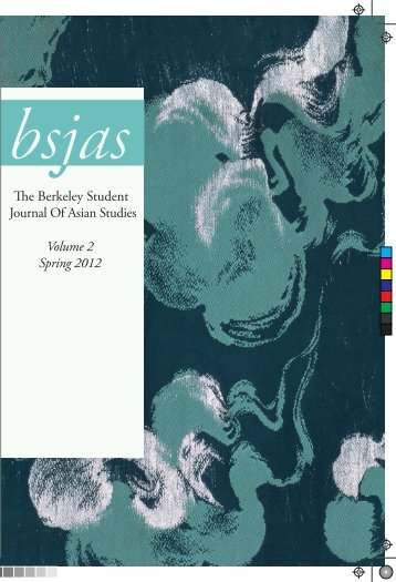 Volum Spring - Institute of East Asian Studies - University of ...