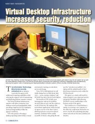 Virtual Desktop Infrastructure offers grea increased security ... - DCMA