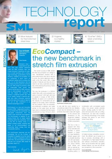 EcoCompact – the new benchmark in stretch film extrusion - SML