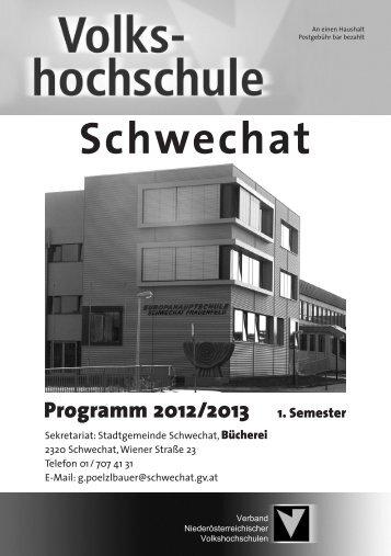 Programm 2012/2013 1. Semester - Stadtgemeinde Schwechat