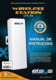 Roteador Externo de 5 GHz Manual do Usuário - Elsys