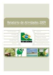 Relatório de Atividades 2009 - SOS Mata Atlântica