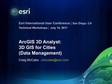 ArcGIS 3D Analyst: 3D GIS for Cities (Data Management) - Esri