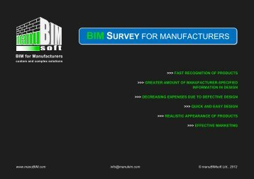 BIM SURVEY FOR MANUFACTURERS - BIM for Building Product ...