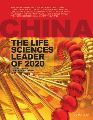 China: the Life Sciences Leader of 2020 - Monitor Group