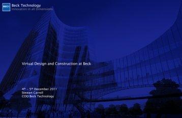 Beck Technology Virtual Design and Construction at Beck ... - CIFE