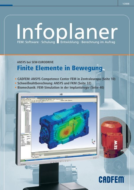 Finite elemente in bewegung cad fem gmbh for Finite elemente berechnung