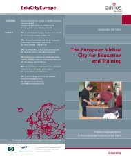 EduCityEurope The European Virtual City for Education and Training