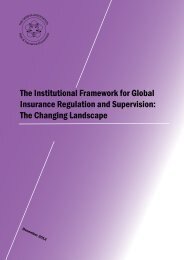 The Institutional Framework for Global Insurance Regulation and ...
