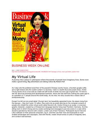 My Virtual Life - CA346-Spring2010 - home