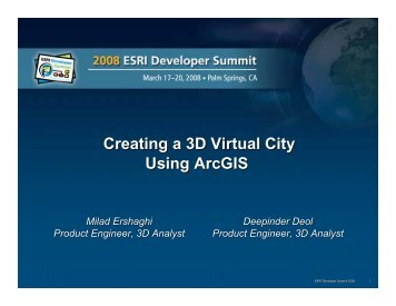 Creating a 3D Virtual City Using ArcGIS - Esri