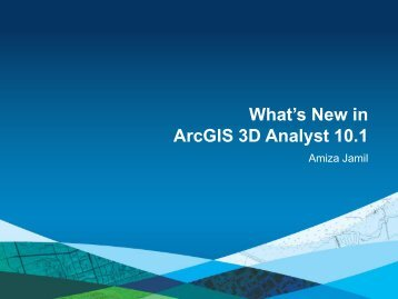What's New in ArcGIS 3D Analyst 10.1