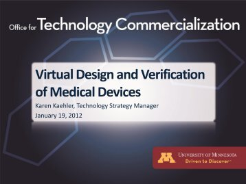 Virtual Design and Verification of Medical Devices