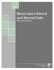 Mona Lisa's Sword and Second Life: