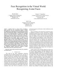 Face Recognition in the Virtual World - Biometrics Research Group ...
