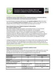 Autodesk Infrastructur Modeler 2012 und Autodesk LandXplorer
