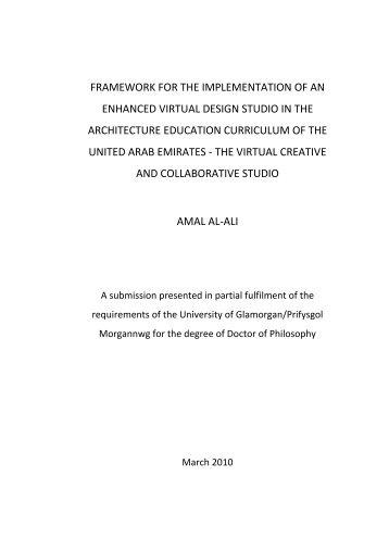 framework for the implementation of a virtual design studio model in ...