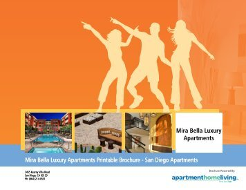 Mira Bella Luxury Apartments Printable Brochure - San Diego ...