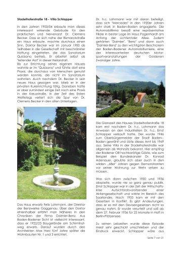 Geschichte der Villa Schlapper - ARTPress 01