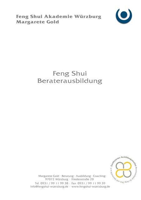 Feng Shui Beraterausbildung Margarete Gold Würzburg