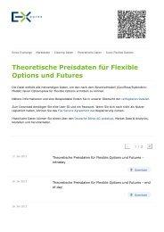 Theoretische Preisdaten für Flexible Options und Futures - Eurex