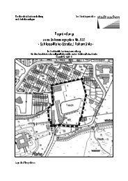 Begründung zum Bebauungsplan Nr. 937 - Schloss ... - Stadt Aachen