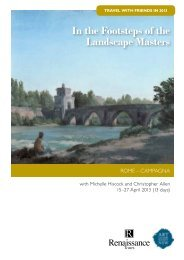 In the footsteps of the landscape masters itinerary - Art Gallery NSW
