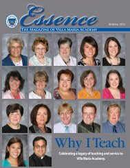Celebrating a legacy of teaching and service to Villa Maria Academy.