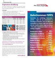 BahnSommer-TIPPS - Rail Tours Austria