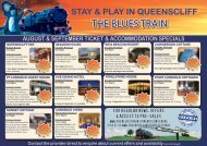 Ticket & Accommodation Packages - Specials - The Blues Train