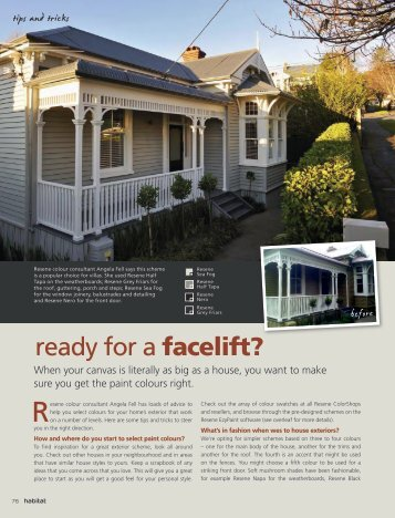 Ready For A Facelift? - Resene