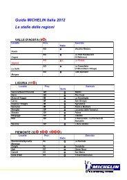 Guida MICHELIN Italia 2012 Le stelle delle regioni - Gourmet Globe