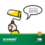 Prospekt Neuheiten 2010 - Paul Jaeger GmbH & Co. KG
