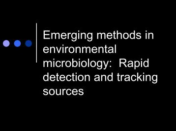 Emerging Methods in Environmental Microbiology - EPI-NET