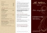 Download our Takeaway menu - All' Antica Italian Restaurant