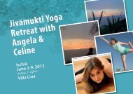 Jivamukti Yoga Retreat with Angela & Celine - DAYAYOGA